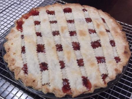 cherry pie baked