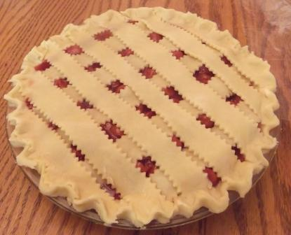 cherry pie crimped