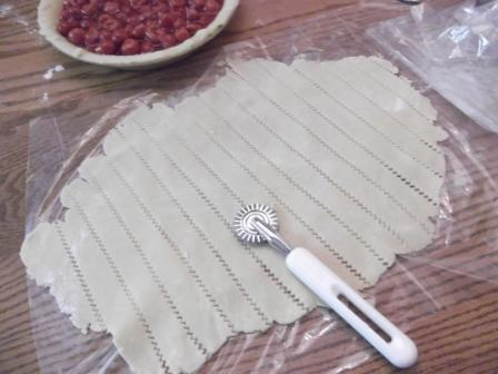 cherry pie cut lattice