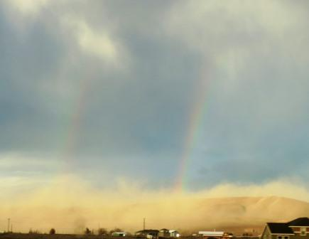 rainbow and dust